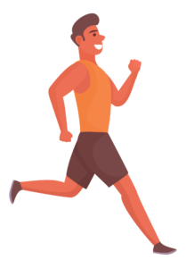 A person running to strengthen calf muscles to improve varicose veins